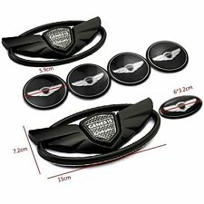 Set 7PC Car Emblems Badges  For 2010-2015 Hyundai GENESIS COUPE Color Black