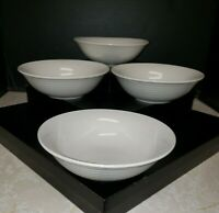 Oneida Casual Settings Set of 4 Cereal/Salad/Soup Bowls EUC Neutral Ivory