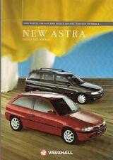 Vauxhall Astra Hatchback Saloon & Estate 1994-95 UK Market Sales Brochure