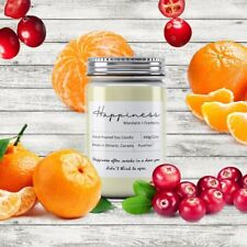Happiness Soy Wax Candle (Mandarin+Cranberry)