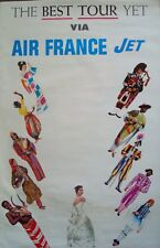 AIR FRANCE The BEST TOUR YET Vintage Airlines Travel poster 1964