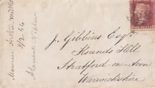 GB LINE ENGRAVED :1865  Id plate 83  D-B  used on  envelope-568 numeral