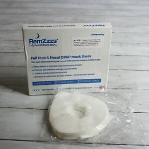 RemZzzs Full Face Nasal CPap Mask Liners Size Small K1-FS White 30 Facial