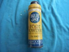 vintage Blue Jay Foot Powder container, Bauer & Black
