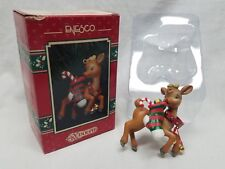 Enesco Rudolph Treasury Christmas Ornament Special Delivery Red Nosed Reindeer