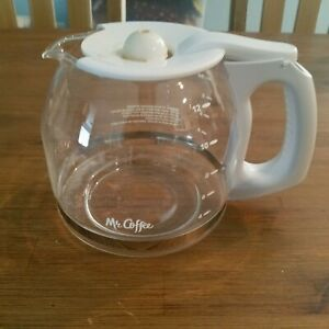 Mr Coffee CG12 12-Cup Coffee Maker Replacement Part Carafe with Lid Clear Glass