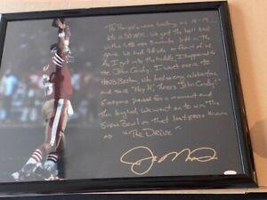 Joe Montana Drive Story 16x20 Photo SB XXIII - Signed and Framed - COA HOLO