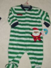 CHILD OF MINE CHRISTMAS BLANKET SLEEPER INFANT BOYS 0-3 MO'S  SANTA...NO TAG