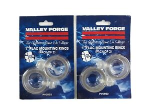 "Lot of 2 Valley Forge PVCR02 1"" Flag Mounting Rings (Pack of 2)"