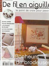 De fil en aiguille N°41 point croix Bonheurs brodeuses Véronique Enginger