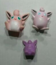 Vintage Wigglytuff CGTSJ Eraser Nintendo Finger Puppet TOMY Mini Figure Toy Lot