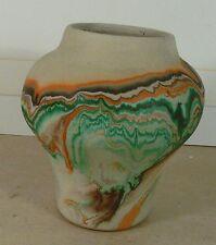 "Nice Colorful Vintage Nemadji Potteries USA Pottery Vase or Planter, 5.5"" Tall"