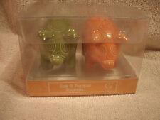 Orange And Green Pig Salt & Pepper Shakers