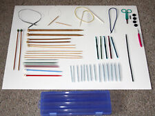 Mixed Lot of Knitting Needles & Crochet Hooks. Includes Other Items And a Case