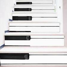 3D Piano Keyboard Stair Wall Sticker Removable Adhesive Pack of 6 Pcs 100x18CM