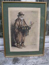 Le Vendeur de Peignes Litho de Georges Tournon