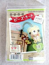 NEW Beading Kit for Teddy Bear Charm w/ Earphone Jack Plug & Chain from Japan