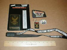 Harley Davidson Motorcycle lot 2002 Sturgis patch Keychain Playing cards hat pin