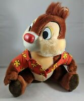 "Disney World Land Chip & Dale Rescue Rangers Dale Chipmunk Plush 10"" VINTAGE"