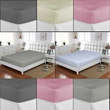 EXTRA DEEP WHITE FITTED SHEET 400TC 100% EGYPTIAN COTTON DOUBLE SUPER KING SIZE