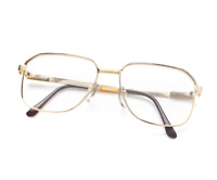 Vintage Hilton 602 Gold Square Eyeglasses Optical Frame Lunettes Eyewear Glasses