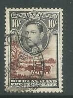 BECHUANALAND SG128 THE 1938-52 GVI 10/- BLACK & RED-BROWN FINE USED CAT £40