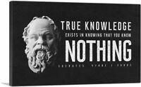 ARTCANVAS True Knowledge Exists in Knowing Socrates Canvas Art Print