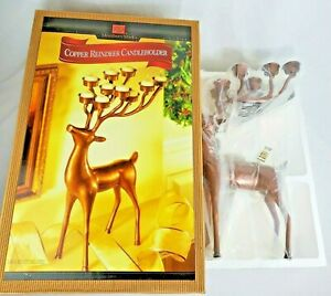 Member's Mark Copper Reindeer Deer 10 Candle  Candleholder New in Box - Md INDIA