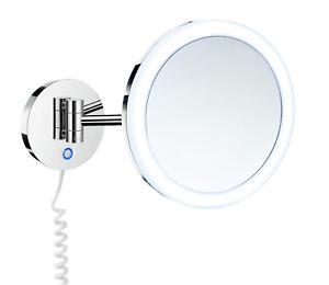 Smedbo Kosmetik Spiegel mit Beleuchtung und 7-fach Vergrößerung FK 486E