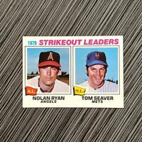 1977 Topps #6 Nolan Ryan/Tom Seaver | PSA Worthy: NM-MT+