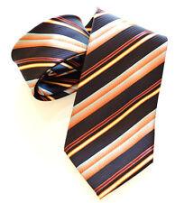 CRAVATTA SETA 100% RIGHE BLU elegante fantasia cerimonia tie cravate handmade 9