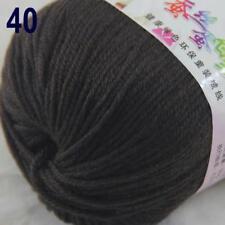 Sale New 1Ball x 50g Cashmere Silk Wool Hand Knit Wrap Shawls Crochet Yarn 40