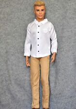 Barbie doll Fashion clothes set white shirt and pans for KEN doll