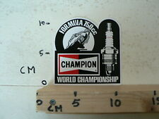 STICKER,DECAL CHAMPION FORMULA 750 CC WORLD CHAMPIONSHIP F750 RACE