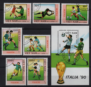 16. VIET NAM 1989 SOCCER WORLD CUP ITALY set + block used