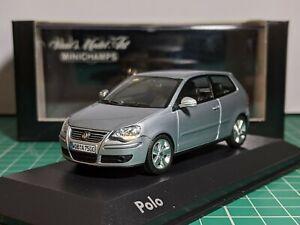Volkswagen Polo Mk4 Facelift Silver 1/43 MINICHAMPS Rare