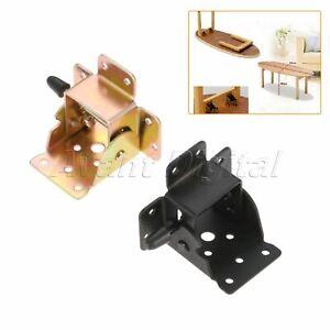 1/2/4Pc Iron Folding Table Chair Leg Bracket Durable Cabinet Self Locking Hinge
