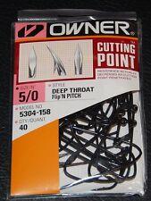 Owner 5304-158 60° Deep Throat Wide Gap Jig Hooks - Size 5/0 Pro Pack of 40