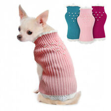 Pet Clothes for Winter Soft Kintted Dog Sweater Small Puppy Cat Jumper Chihuahua