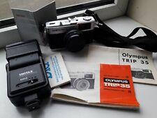 Olympus Trip 35 Camera with Manuals / Unitax 124AZ Flash