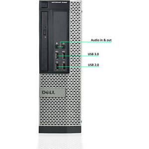 Dell Optiplex 9020 SSF i7-4790 Upto 32GB DDR4 2TB SSD Windows 10