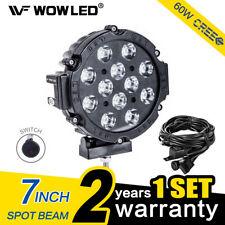 WOW - 7 Inch 60W CREE LED Work Light Truck Car Spot Light SUV 4WD + Wiring Kit