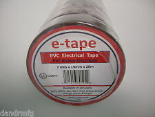 "NEW 10PK PVC ELECTRICAL TAPE 3/4"" x 60' x 7mils BROWN INSULATION ADHESIVE ROLLS"