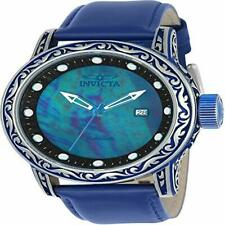 INVICTA Vintage Men 52mm Stainless Steel Blue + Steel Black dial NH35A Automati