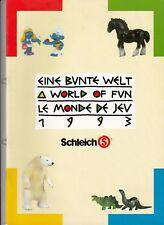 großer Schleich Katalog 1993 , DIN A4 u.a. mit Schlümpfen TOPZUSTAND