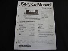 ORIGINALI service manual TECHNICS rs-ch550