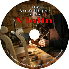 Violin Making, Repair, History, Restoration, Insturment, 85 Violin Books on DVD