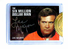 SIX MILLION DOLLAR MAN BIONICS LEE MAJORS SILVER SIGNATURE  AUTOGRAPH CARD