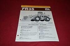Fiat Allis Chalmers FR35 Wheel Loader Dealer's Brochure DCPA2