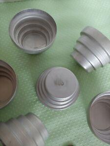 Vintage 8 Tart 4 Pans Jello molds Muffins metal aluminum undulated
